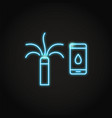 neon smart sprinkler icon in line style vector image