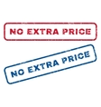 No Extra Price Rubber Stamps vector image vector image