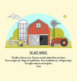 organic farming in linear vector image