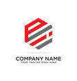 p and i logo design template initial logo vector image vector image