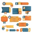 Paper infographics labels vector image vector image