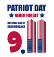 patriot day postcard concept background realistic vector image vector image