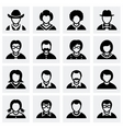 People icon set vector image vector image