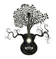 retro guitar tree vector image