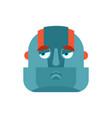 robot sad emoji cyborg sorrowful emotions robotic vector image
