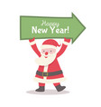 santa claus with holds pointer banner vector image