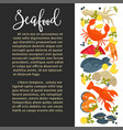seafood poster of fresh fish sea food catch vector image vector image