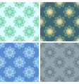 seamless geometrical wave pattern set vector image vector image