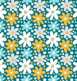 Seamless pattern with decorative daisy flowers vector image
