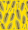 seamless pattern with ears wheat vector image
