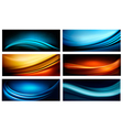 set business elegant colorful abstract vector image vector image