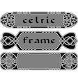 Set celtic frame vector image vector image