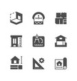 set icons of architectural vector image