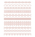 Set of Ethnic ornamental borders isolated on white vector image