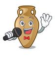 singing amphora mascot cartoon style vector image vector image