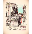 sketch digital drawing of Rome Italy cityscape vector image vector image