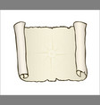 sketch of ancient scroll isolated on white with vector image vector image