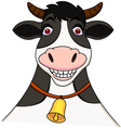 Smiling cow cartoon vector image vector image