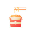 takeaway noodles flat color icon vector image vector image