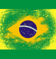 textural flag of brazil vector image