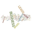 the best home based business leads text vector image vector image