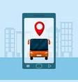 transport service and technology vector image vector image