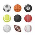 sports balls set basketball soccer vector image