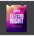 Abstract Brochure design template club vector image