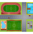 Sport fields and courts vector image