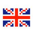 great britain pixel flag art cartoon retro game vector image