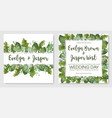 2 watercolor set of garden foliage template of vector image vector image