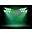 A stage with spotlights vector image vector image