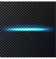Abstract blue light and fire flash element on dark vector image vector image