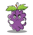 angry grape character cartoon collection vector image