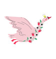 beautiful flying swan princess with golden crown vector image