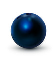 bowling ball blue 3d realistic icon for vector image vector image