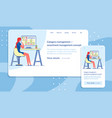 category manager job responsive website template vector image
