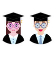cheerful and happy students vector image