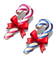 christmas red and blue delicious lollipops vector image vector image