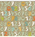 Colorful numbers and letters vector image vector image