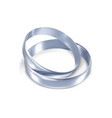 couple silver or platinum wedding rings 3d vector image