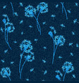 denim floral seamless pattern faded jeans vector image vector image