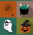 flat halloween icon vector image vector image