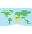 flat style of world map vector image