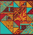 Four color pattern background vector image