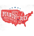 fourth july hand-lettering card vector image