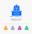 game boss legend master ceo 5 color glyph web vector image