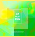 green neon abstract background vector image vector image