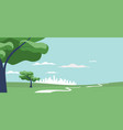 green park and city landscape background vector image