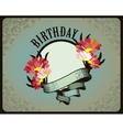 Greeting card birthday vector image vector image